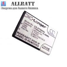 CameronSino аккумулятор для Alcatel OT-960 1750mAh [повышенной емкости с задней крышкой] (CS-OT960XL)